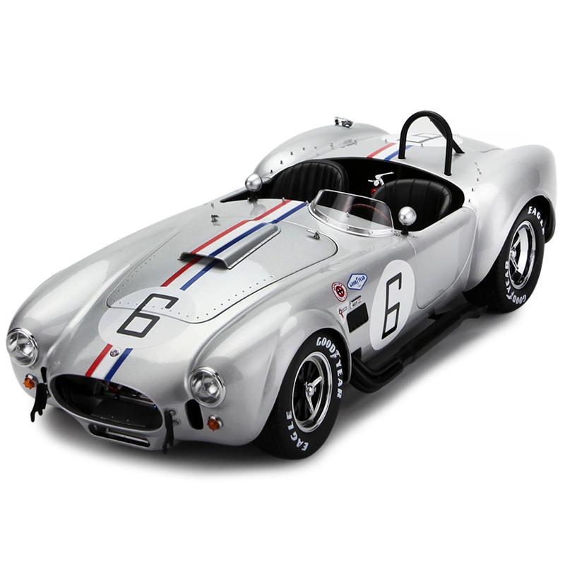 京商1:12 福特谢尔比眼镜蛇427s/c no.6合金仿真静态汽车模型 银色